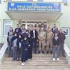 """İzollu lisesi """"Askerlerimize Moral"""" etkinliği çerçevesinde İlçe Jandarma Komutanlığını ziyaret etti"""